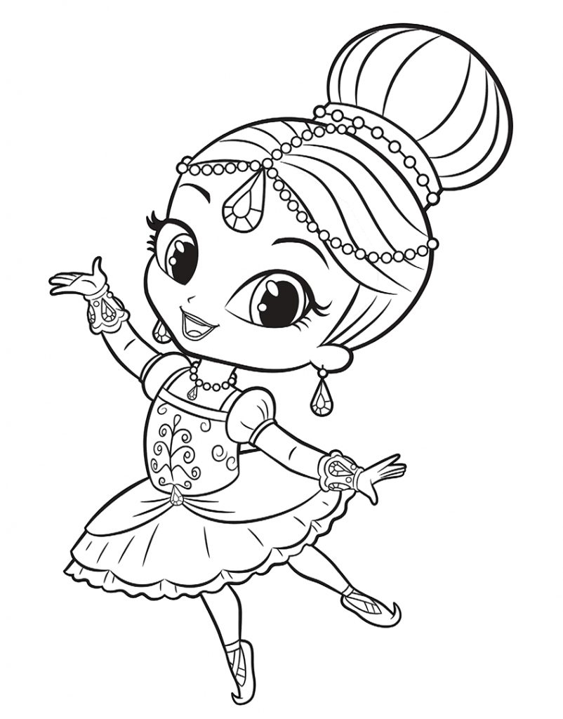 21+ Marvelous Picture Of Shimmer And Shine Coloring Pages - Birijus.com