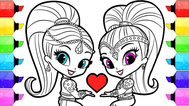 Shimmer And Shine Coloring Pages Shimmer And Shine Coloring Pages How To Draw And Color Shimmer And