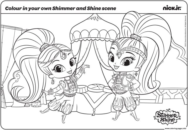 Shimmer And Shine Coloring Pages Shimmer And Shine Coloring Pages Ncpocketsofresistance
