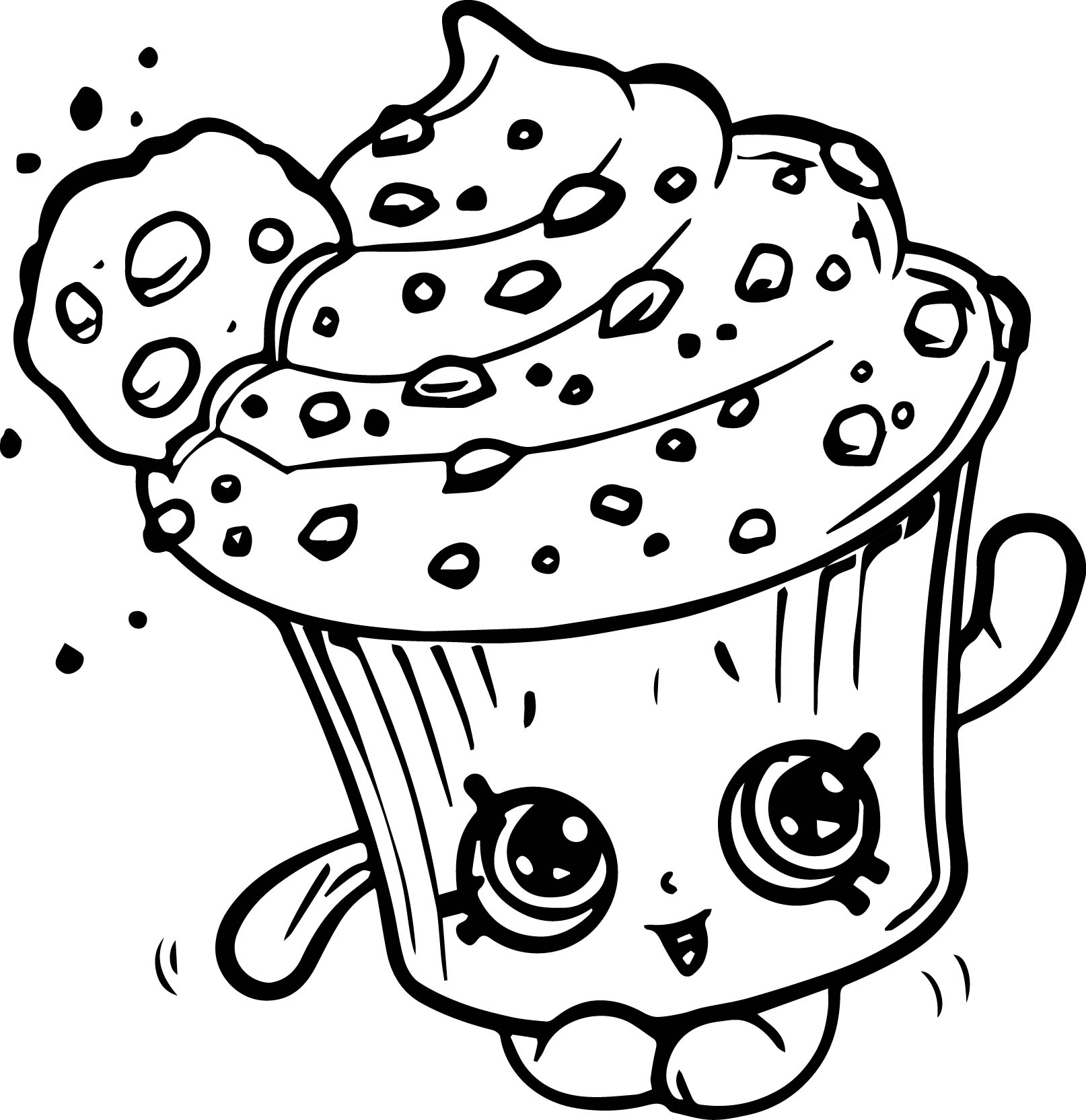 - Shopkins Coloring Pages To Print Creamy Cookie Cupcake Shopkins