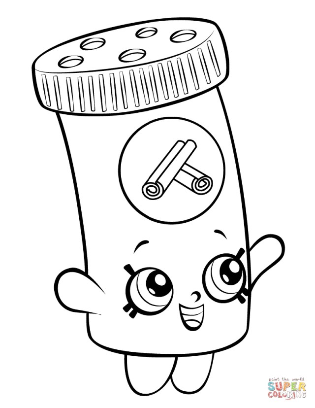 Shopkins Coloring Pages To Print Shopkins Coloring Pages Free Coloring Pages