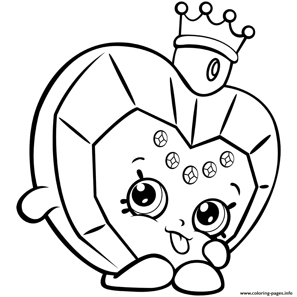 picture relating to Printable Shopkins Pictures called Shopkins Coloring Internet pages Toward Print Shopkins Coloring Web pages