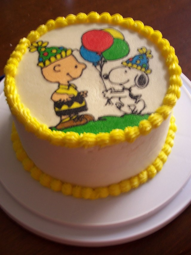 Snoopy Birthday Cake Charlie Brown And Snoopy Birthday Cake Cakecentral