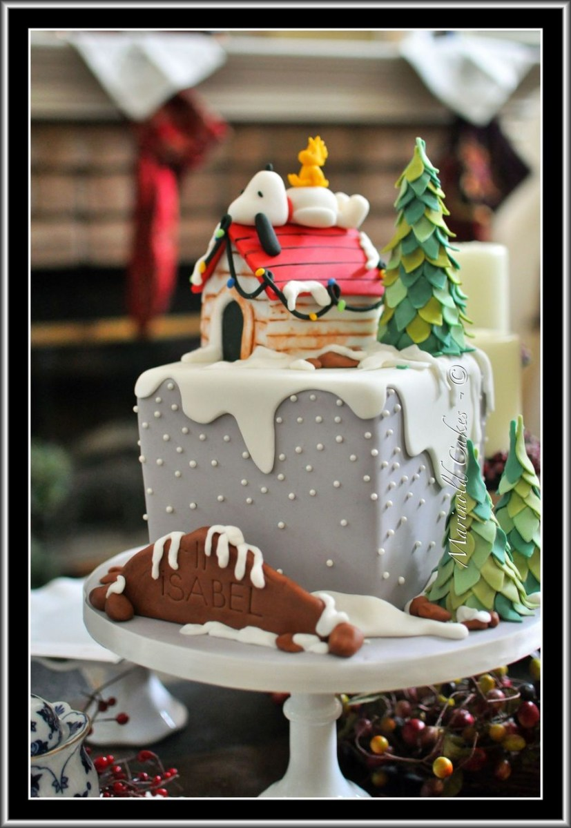Amazing Snoopy Birthday Cake Snoopy And Woodstock In Winter Birthday Cake Funny Birthday Cards Online Eattedamsfinfo