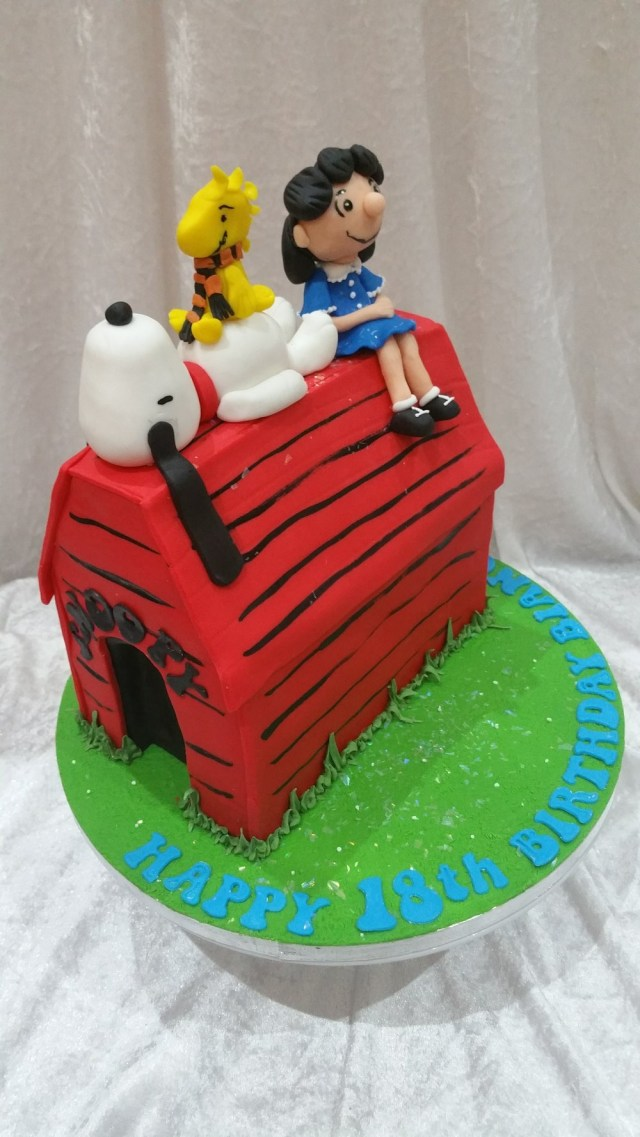 Snoopy Birthday Cake Snoopy Woodstock And Lucy Cakeadelic