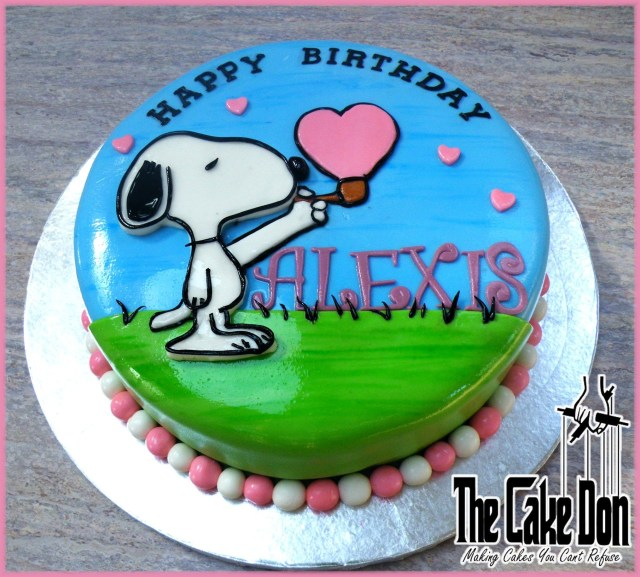 Snoopy Birthday Cake The Snoopy Love Bubble Birthday Cake The Cake Don My Cakes