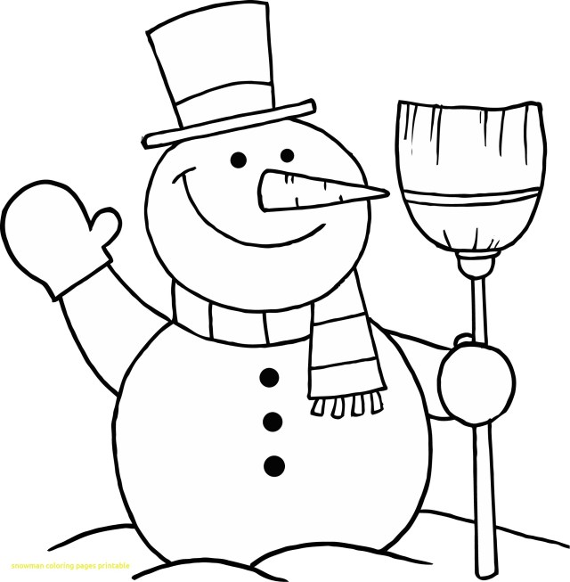 Snowman Coloring Pages Limited Snowman Picture To Color Frosty Coloring Page Free Printable