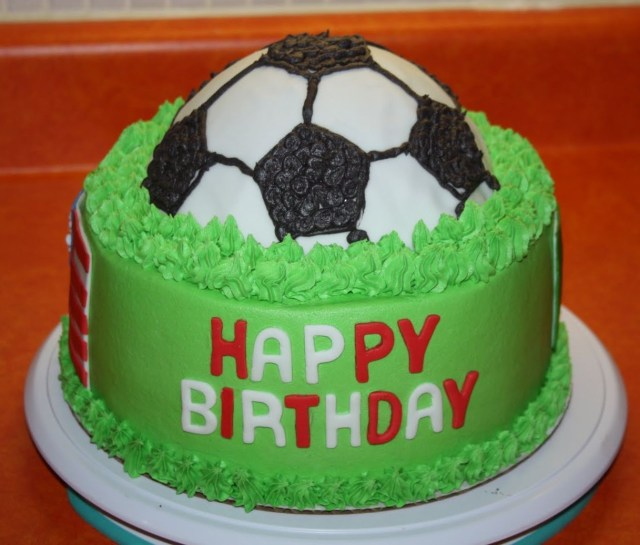 Groovy 21 Excellent Image Of Soccer Birthday Cakes Birijus Com Personalised Birthday Cards Veneteletsinfo