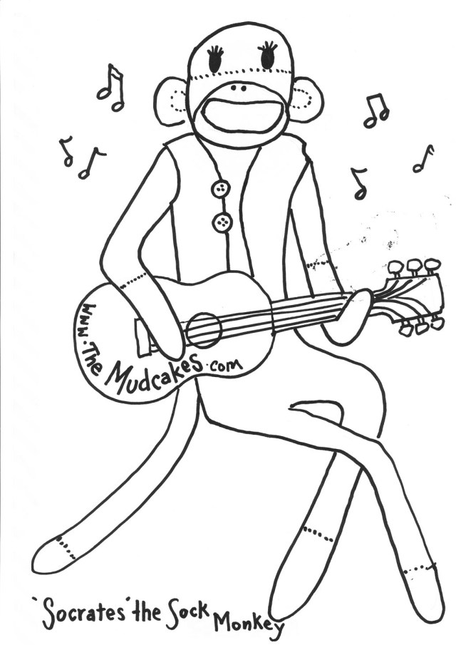 Sock Coloring Page Sock Monkey Coloring Page 29962 Bestofcoloring