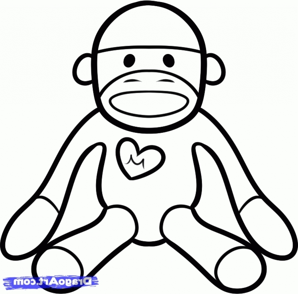Sock Coloring Page Sock Monkey Coloring Pages F5to Sock Monkey Coloring Pages 7 19865