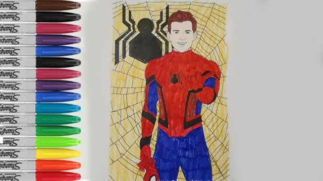 Spider Man Homecoming Coloring Pages Spiderman Homecoming Coloring Pages Happy Coloring