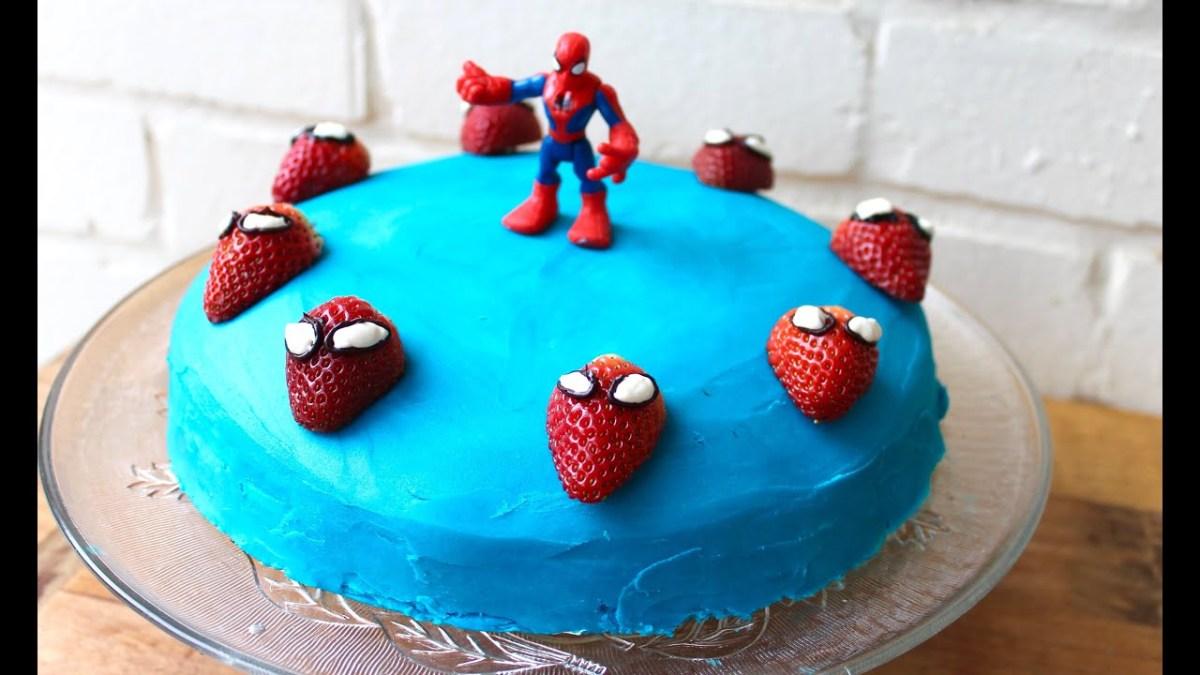 Surprising Spiderman Birthday Cakes Easy Birthday Cake Idea How To Make A Funny Birthday Cards Online Ioscodamsfinfo
