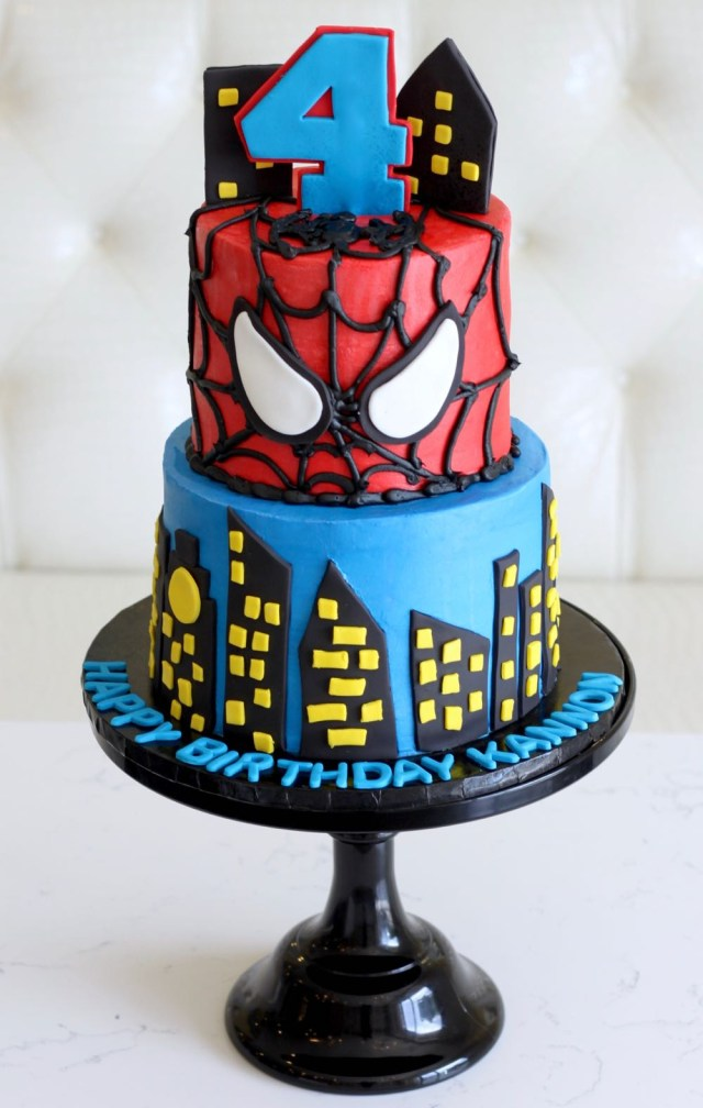 Spiderman Birthday Cakes Rise Cupcakes Spiderman Birthday Cake
