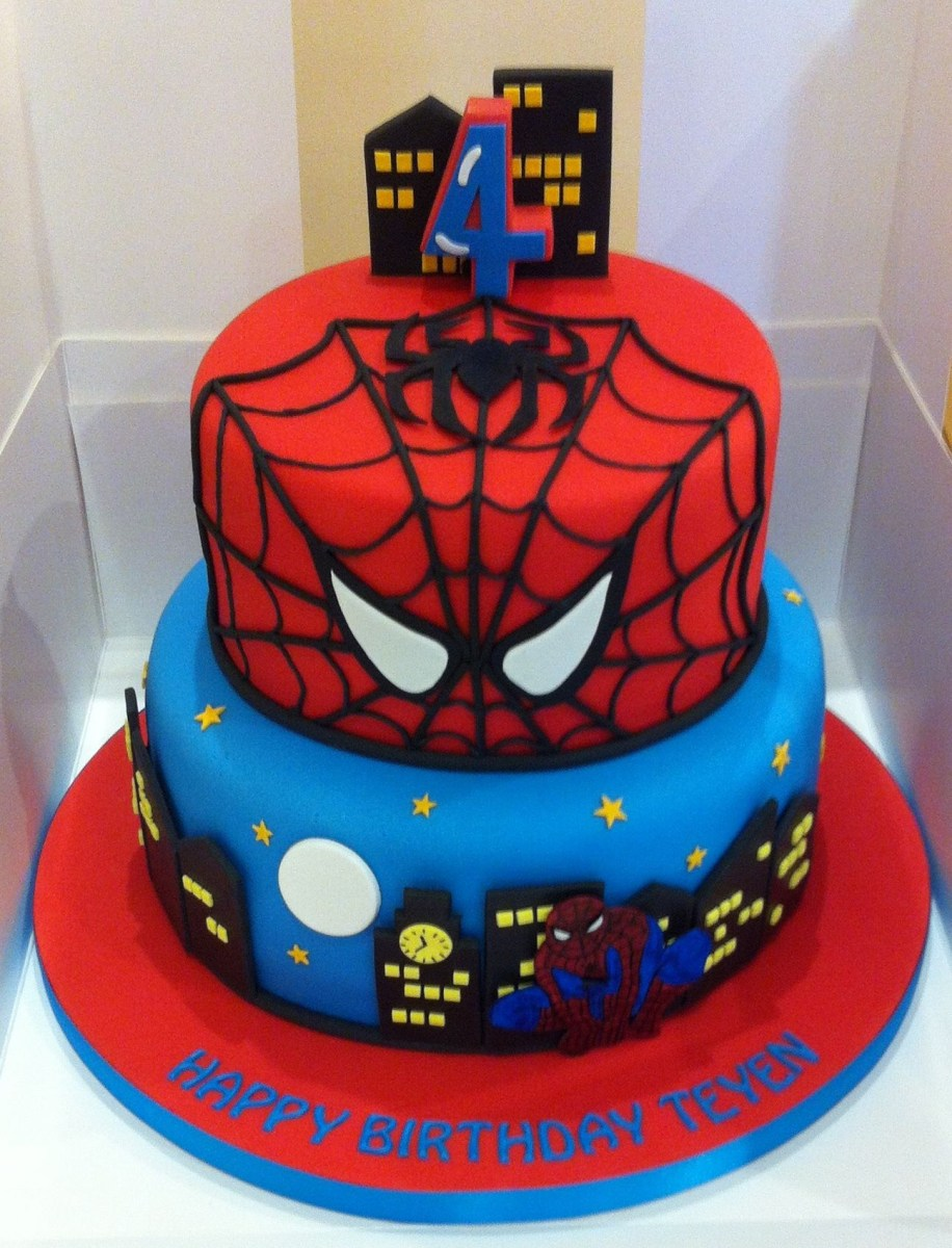 27+ Marvelous Image of Spiderman Birthday Cakes