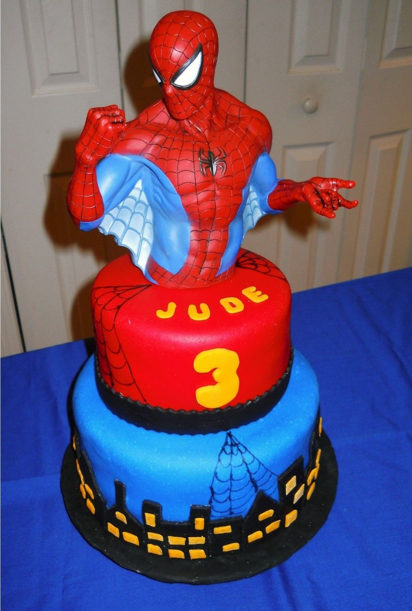 Superb Spiderman Birthday Cakes Spiderman Birthday Cake Boys Birthday Personalised Birthday Cards Beptaeletsinfo