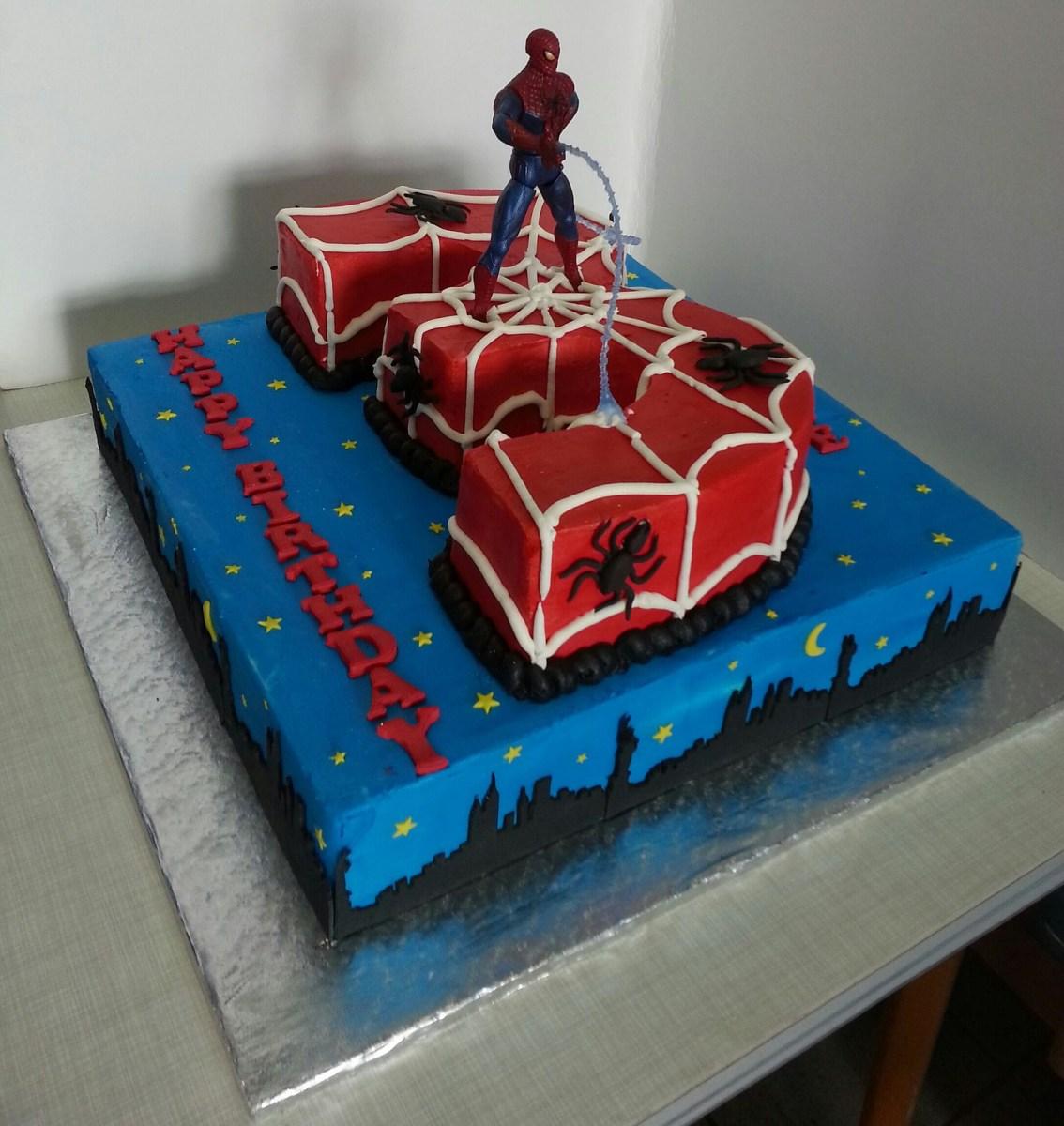 Peachy Spiderman Birthday Cakes Spiderman Birthday Cake Cakes Cupcakes Birthday Cards Printable Opercafe Filternl