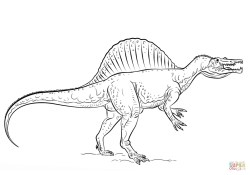 Spinosaurus Coloring Page Spinosaurus Coloring Page Free Printable Coloring Pages