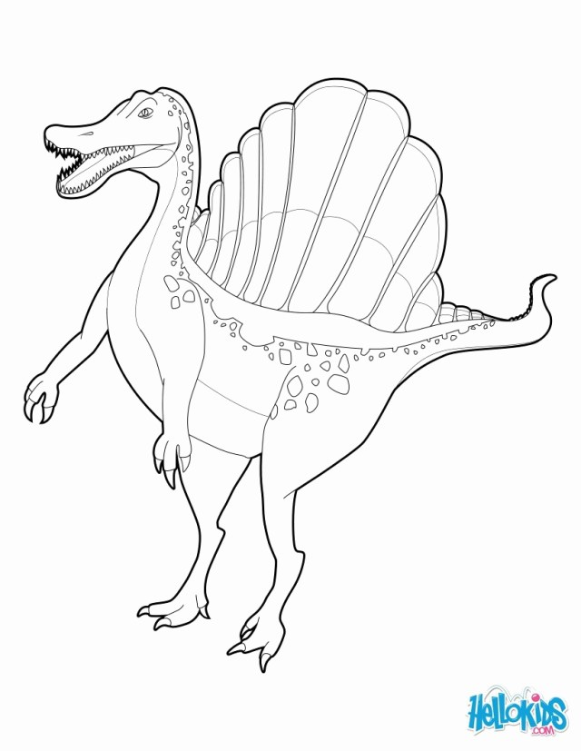 Spinosaurus Coloring Page Spinosaurus Coloring Page Free Printable Pages Throughout Bitslice