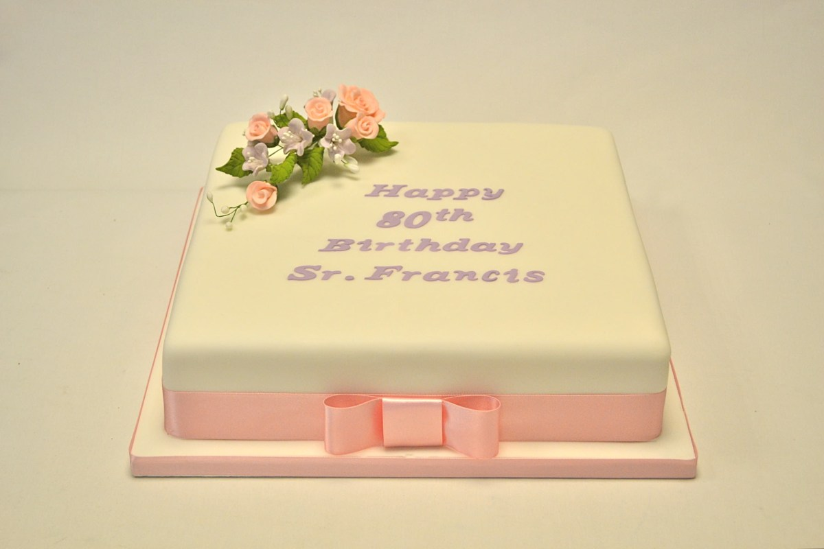 Pleasant Square Birthday Cakes 12 Square Rose And Azalea Cake Girls Funny Birthday Cards Online Overcheapnameinfo