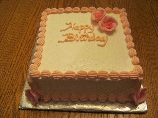 Square Birthday Cakes Square Birthday Cake Cakecentral