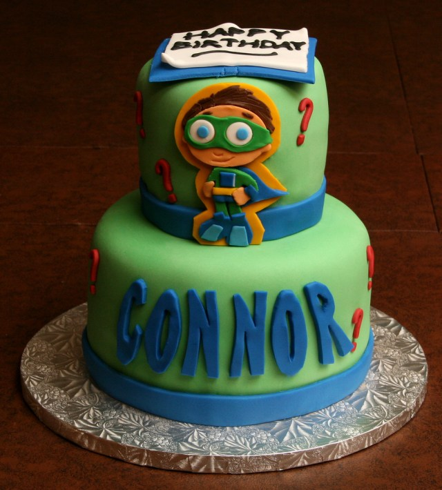 Super Why Birthday Cake Super Why Birthday Cake I Made Birthday Cakes For Twins Co Flickr