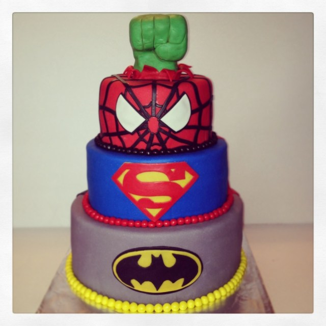 Awesome 30 Inspiration Image Of Superhero Birthday Cakes Birijus Com Personalised Birthday Cards Cominlily Jamesorg
