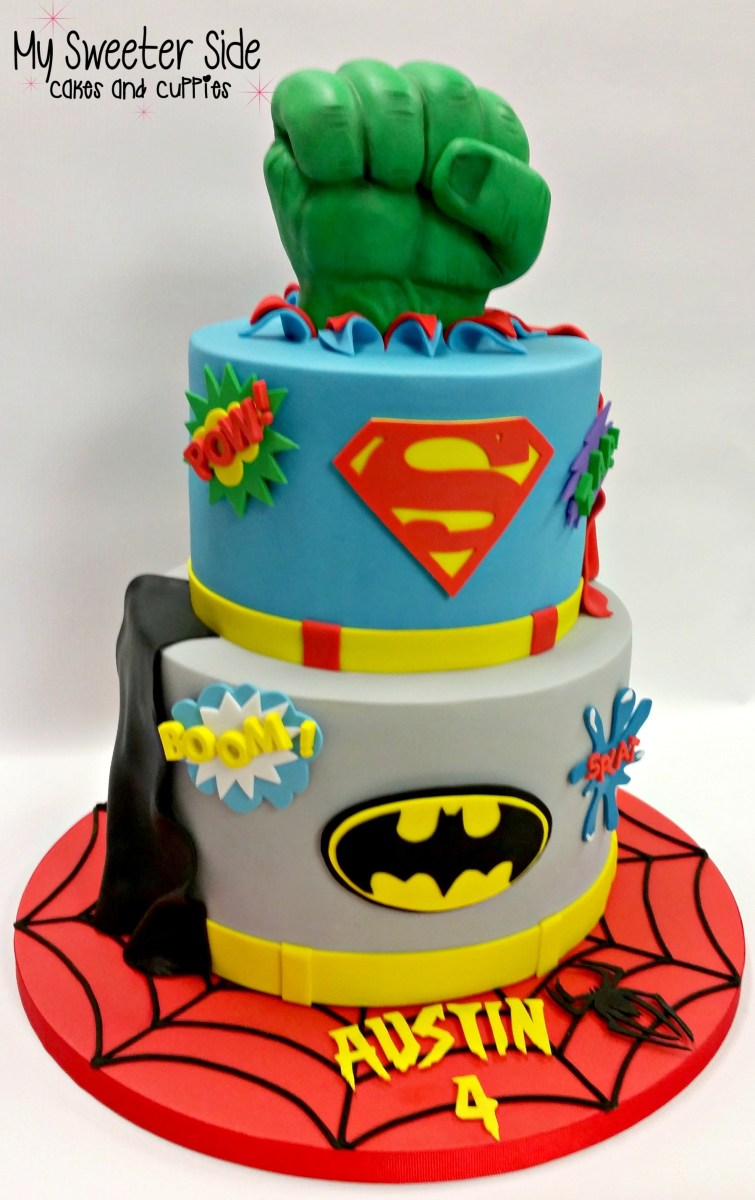 Fantastic Superhero Birthday Cakes Superhero Cake Cakecentral Birijus Com Birthday Cards Printable Riciscafe Filternl