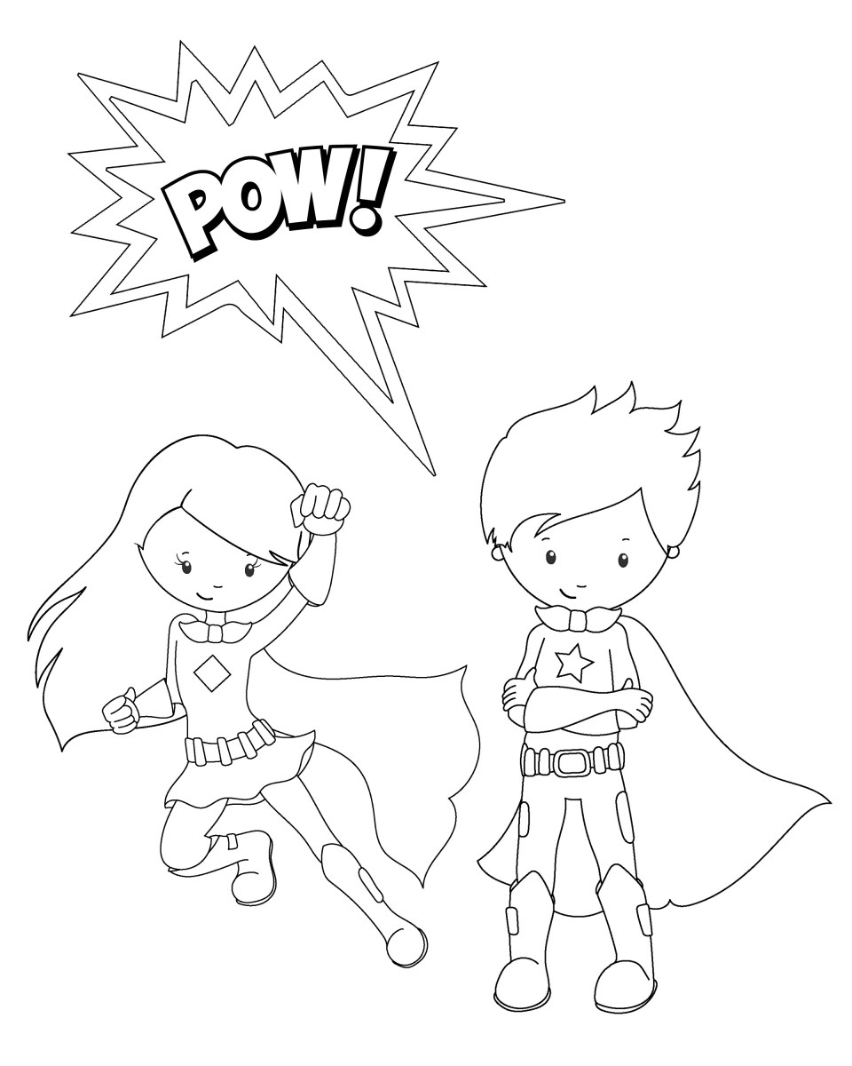 Superhero Printable Coloring Pages Free Printable Superhero Coloring Sheets For Kids Crazy Little Birijus Com