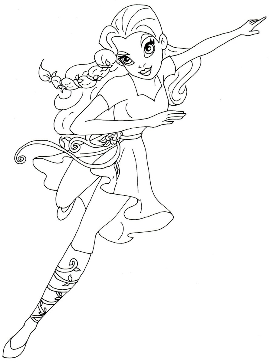 DC Superhero Girls Coloring Pages - Best Coloring Pages For Kids | 1200x889