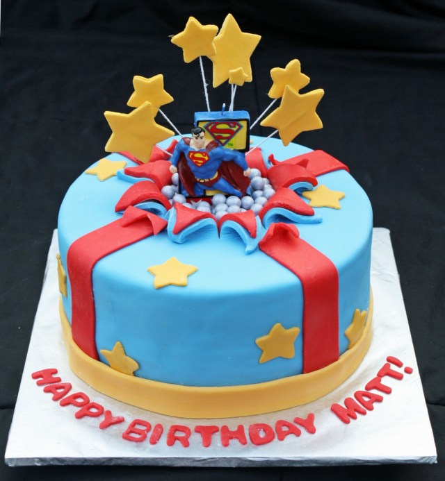 Superman Birthday Cake Superman Bursting Out Of The Birthday Cake Rose Bakes