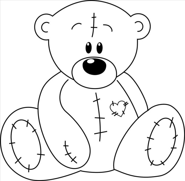 Teddy Bears and Hearts Coloring Pages Awesome 808 Best Hearts ...   628x640