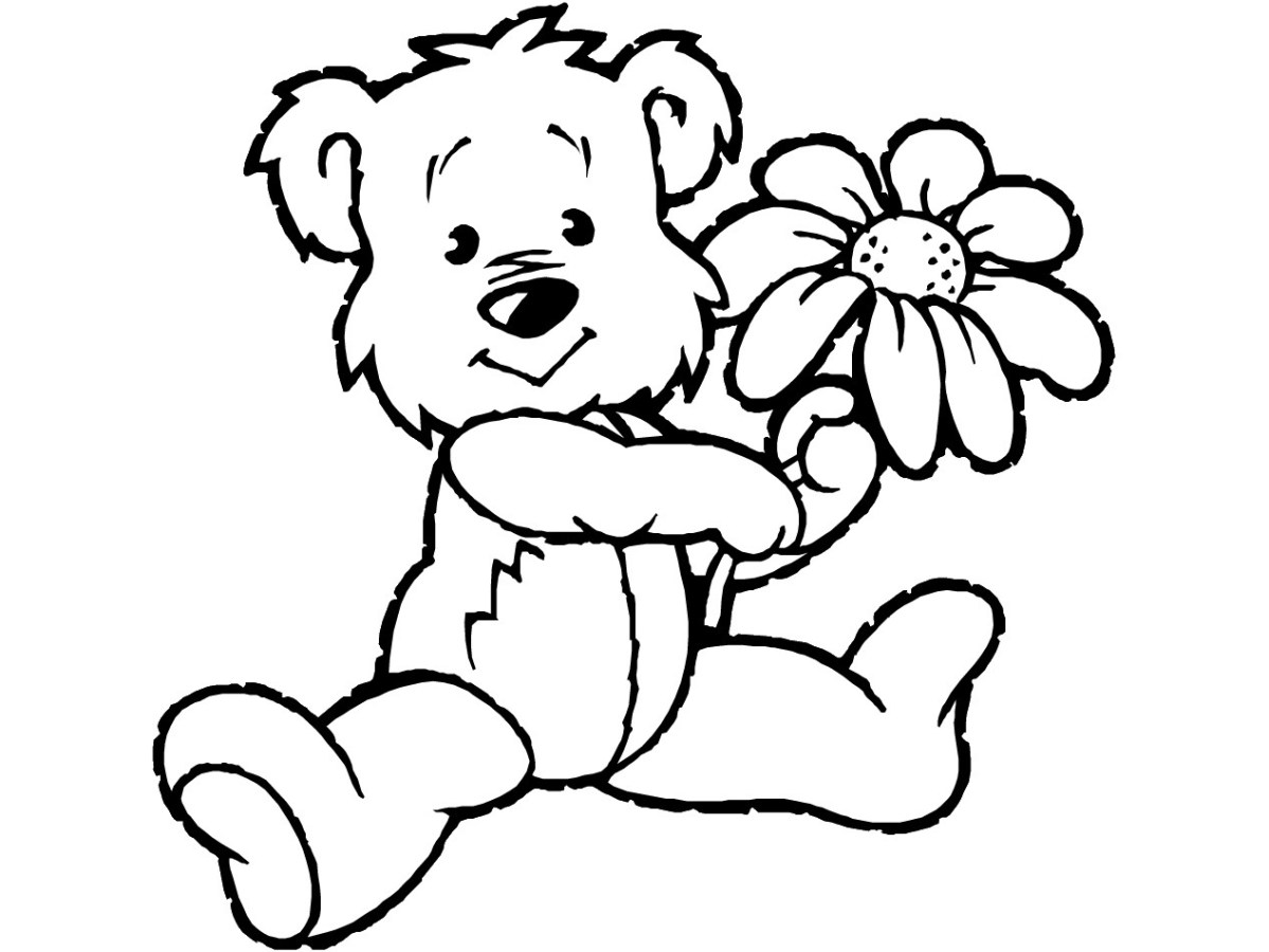 Teddy Bear Coloring Pages Free Printable Teddy Bear Coloring ...