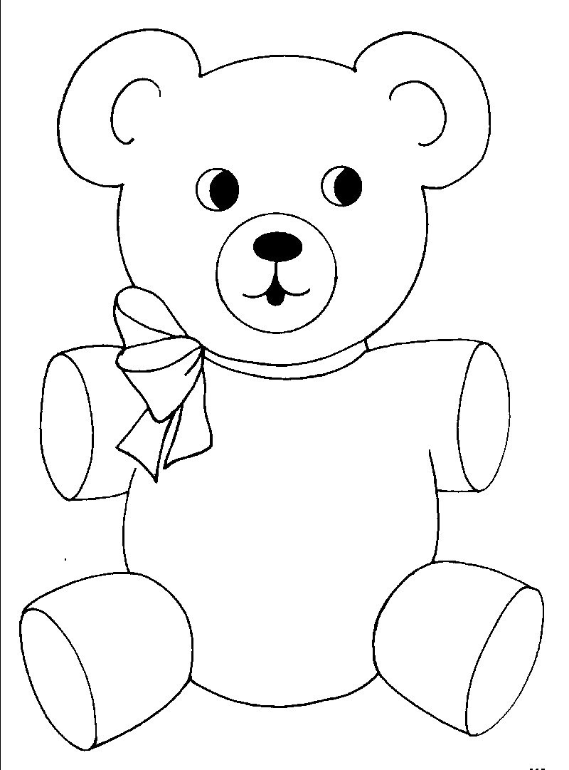 Teddy Bear Coloring Pages Teddy Bear Coloring Page 20 Pages