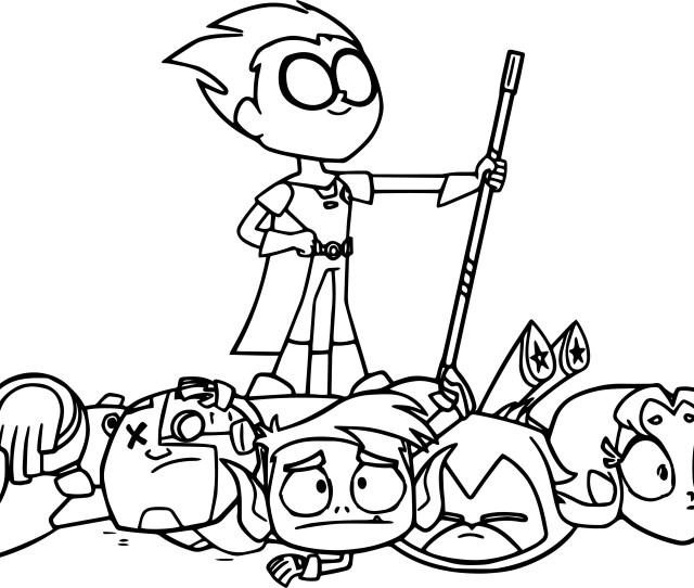 Teen Titans Coloring Pages Robin Teen Titans Go Victorious