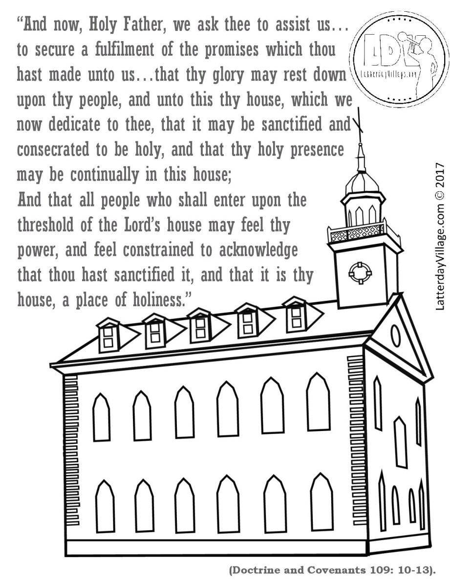 Temple Coloring Page Kirtland Temple Coloring Page Color Bros