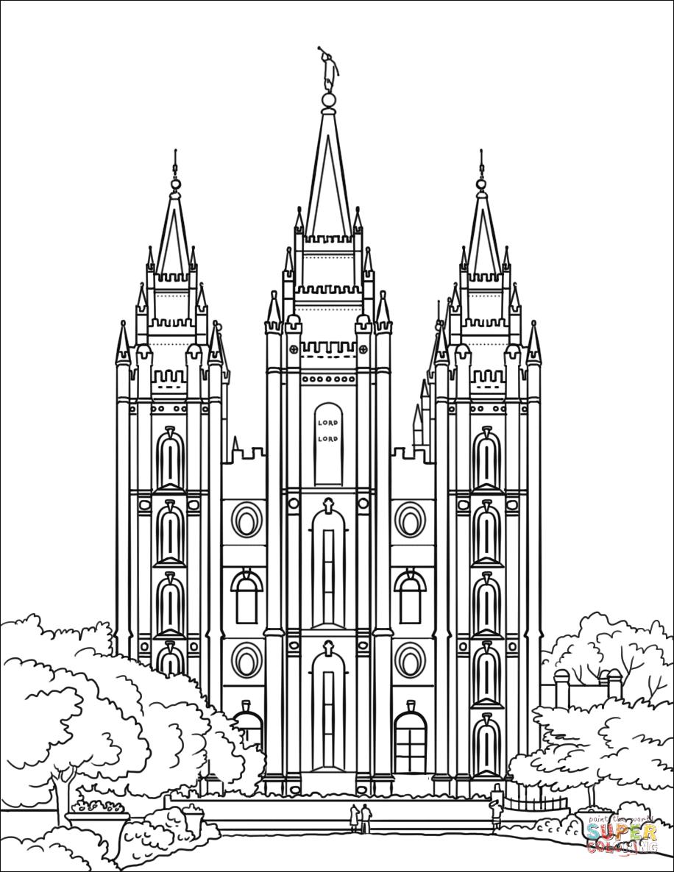 Temple Coloring Page Salt Lake City Temple Coloring Page Free Printable Coloring Pages