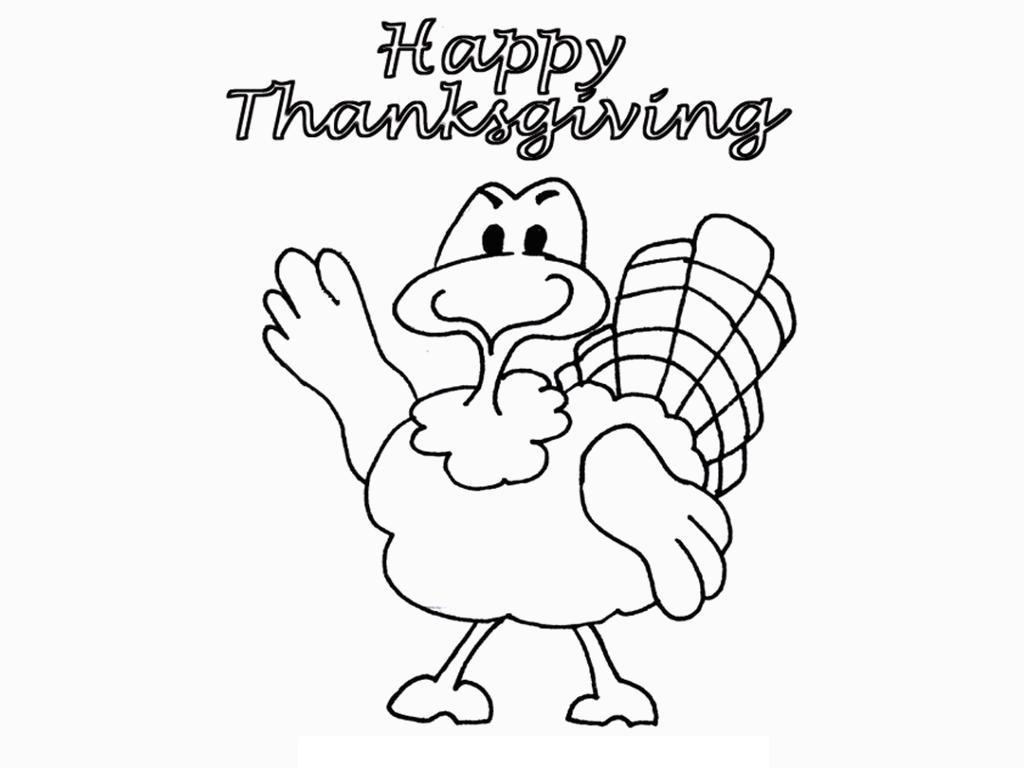 Printable Thanksgiving Coloring For Kids Drawing With Crayons
