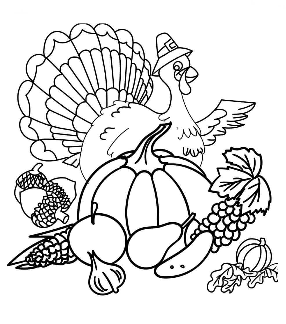 Turkey Colouring Page | Turkey coloring pages, Thanksgiving coloring pages,  Fall coloring pages | 1118x986