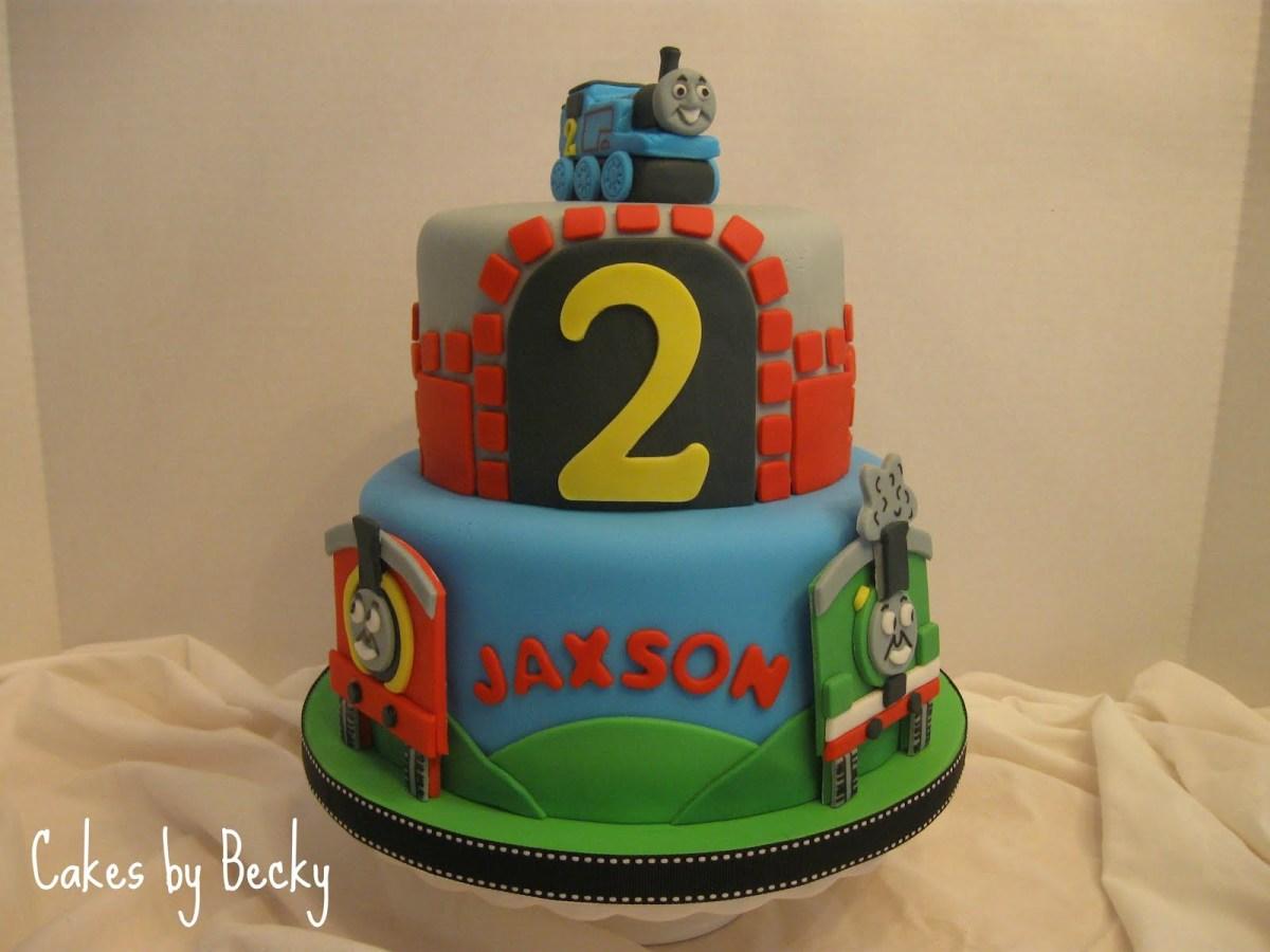 Marvelous Thomas The Train Birthday Cakes Cakes Becky Thomas The Train Funny Birthday Cards Online Sheoxdamsfinfo