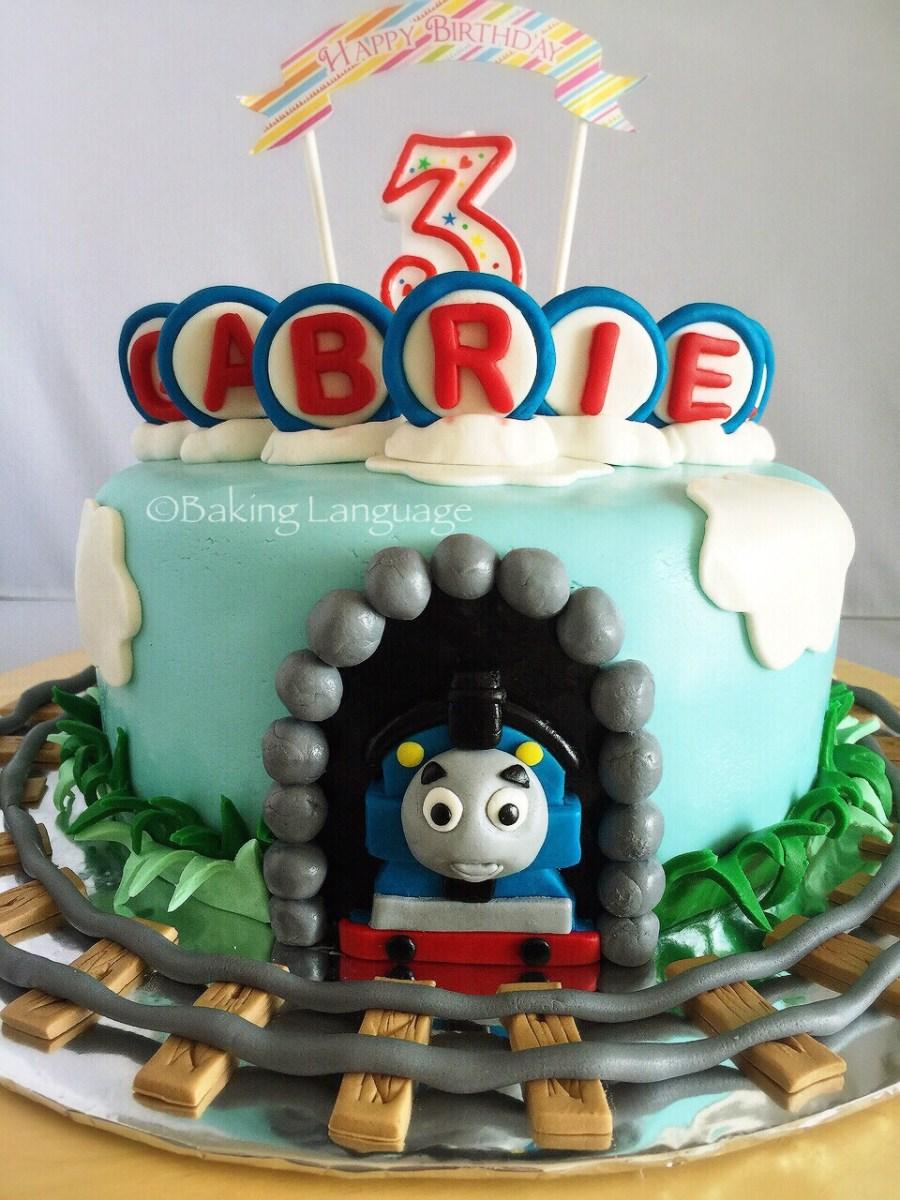 Brilliant Thomas The Train Birthday Cakes Thomas Train Birthday Cake Baking Funny Birthday Cards Online Sheoxdamsfinfo