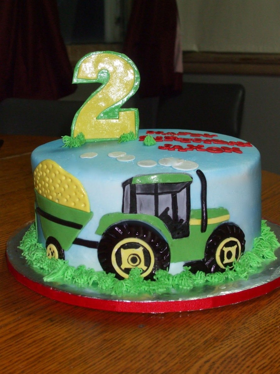 Awesome Tractor Birthday Cakes Tractor Birthday Cakes Cakes Paula John Personalised Birthday Cards Veneteletsinfo