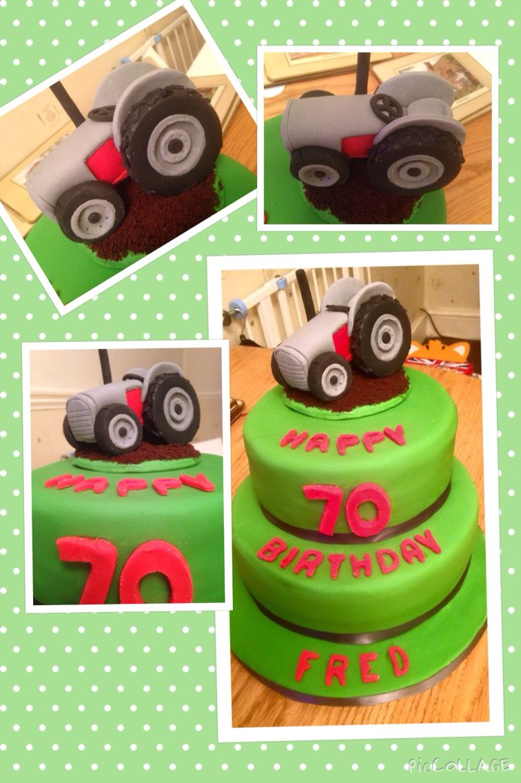 Fabulous Tractor Birthday Cakes Vintage Tractor Cake Farming Cakes Funny Birthday Cards Online Alyptdamsfinfo