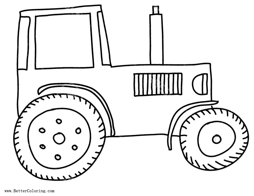 Tractor Coloring Page Simple Tractor Coloring Pages Free ...
