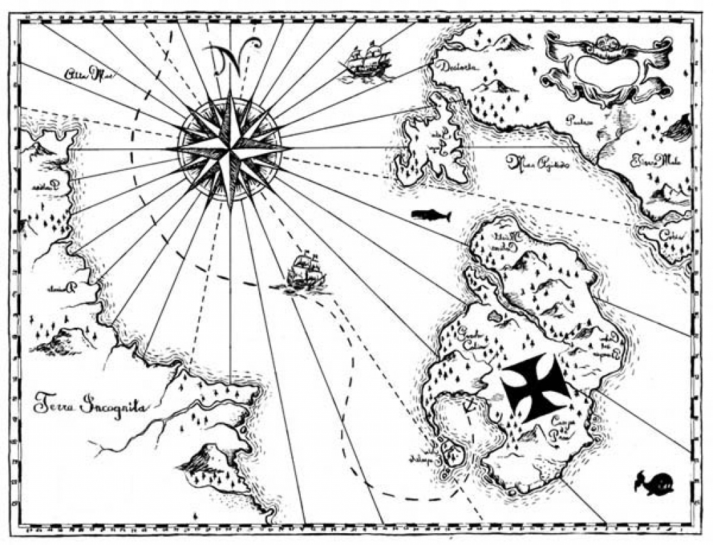 - Treasure Map Coloring Pages Pirate Map Coloring Page At