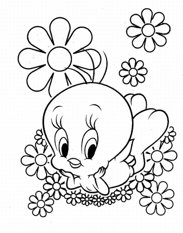 Tweety Bird Coloring Pages Tweety Bird Coloring Pages At Getdrawings Free For Personal