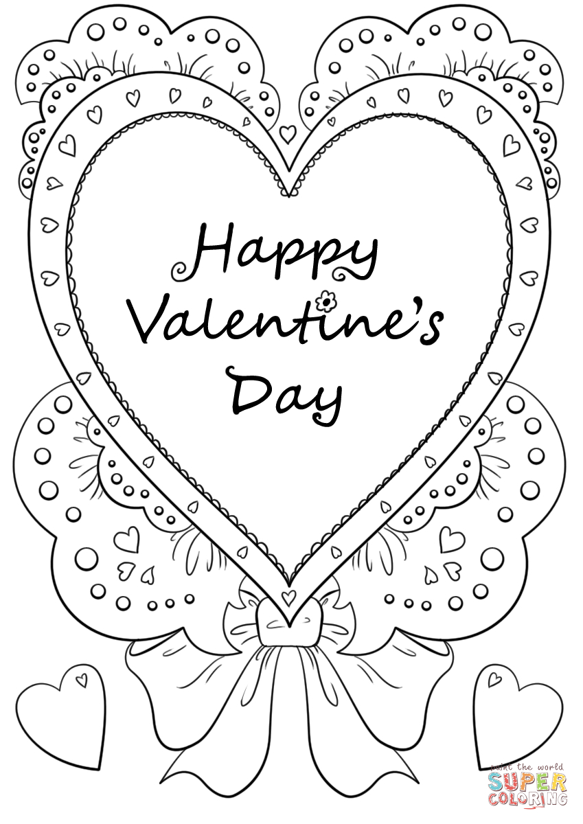 - Valentines Day Coloring Pages Happy Valentines Day Coloring Page