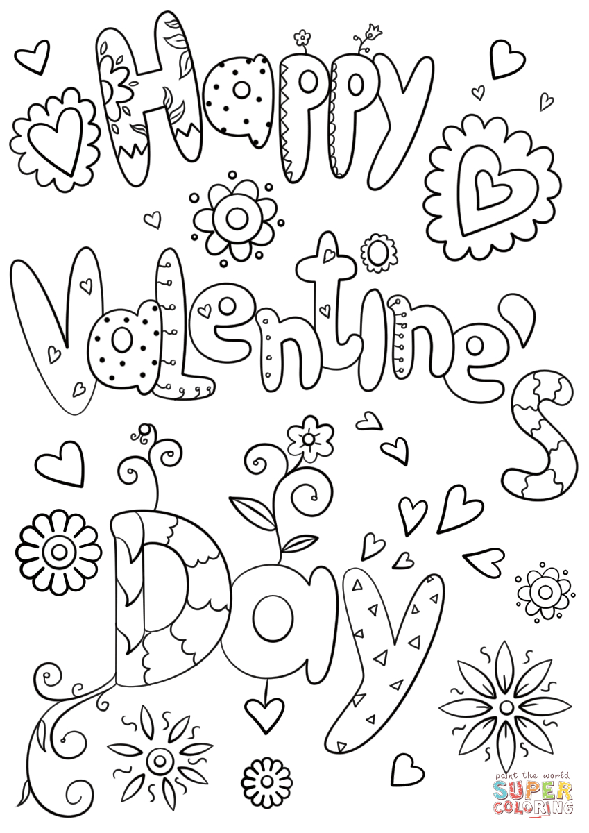 picture regarding Valentine Day Coloring Pages Printable identified as Valentines Working day Coloring Internet pages Printable Pleased Valentines Working day