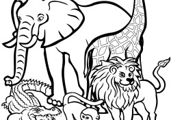 Wild Animal Coloring Pages African Animals Coloring Pages Free Printable Pictures