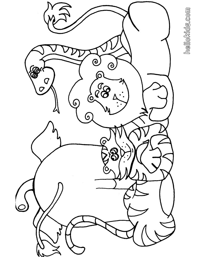 - 25+ Elegant Image Of Wild Animal Coloring Pages - Birijus.com