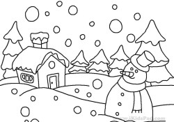 Winter Coloring Pages For Kids Coloring Page Tremendous Winter Coloring Sheets